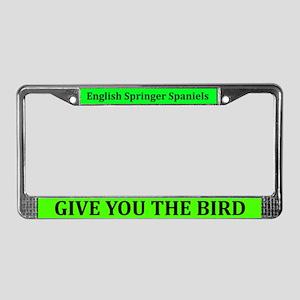 English Springer Spaniels License Plate Frame