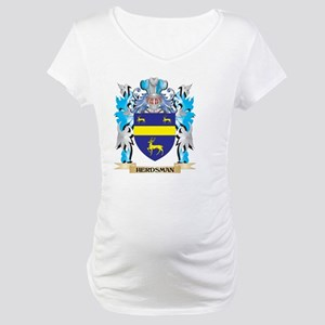 Herdsman Coat of Arms - Family Crest Maternity T-S