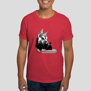 giant schnauzer sit up Dark T-Shirt