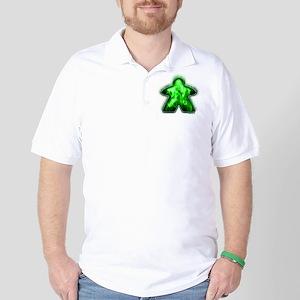 Green Fire Meeple Golf Shirt