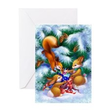 Cute Christmas Animals Greeting Card