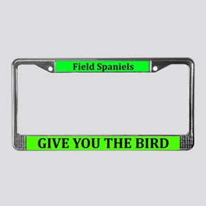 Field Spaniels Give The Bird License Plate Frame