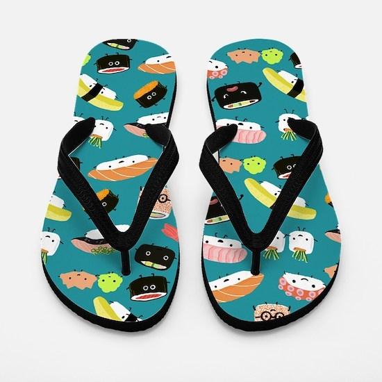 Sushi Party Flip Flops