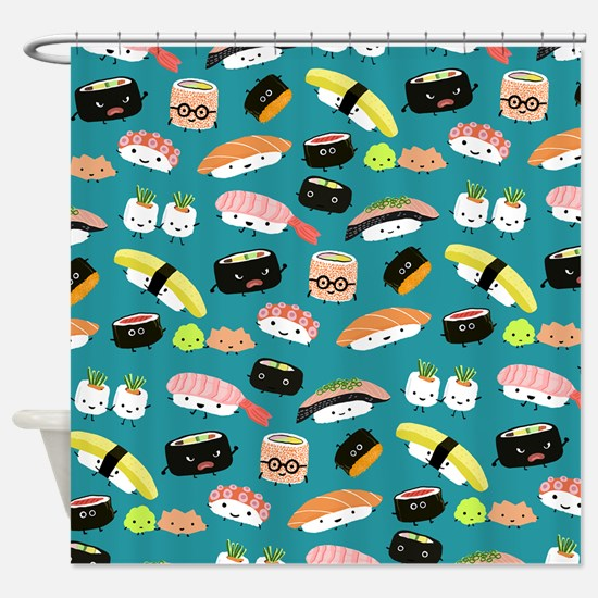 Sushi Party Shower Curtain