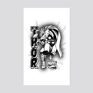 Marvel Comics Thor Retro Sticker (Rectangle)