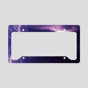 Purple storm 2 License Plate Holder