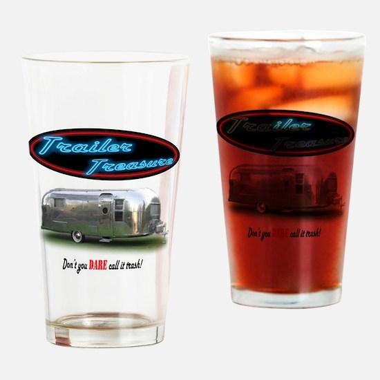 Trailer Treasure Vintage Drinking Glass