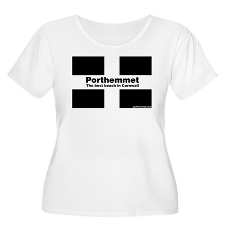 Porthemmet Women's Plus Size Scoop Neck T-Shirt