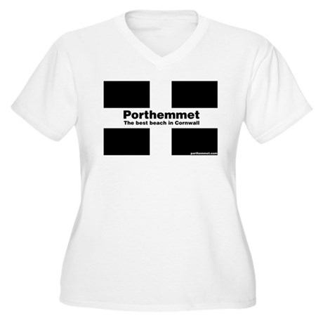 Porthemmet Women's Plus Size V-Neck T-Shirt