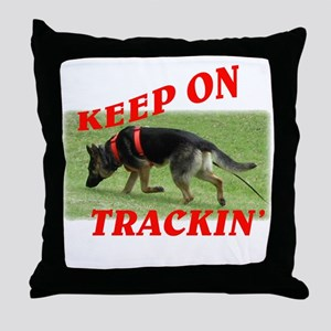 GSD tracking dog Throw Pillow