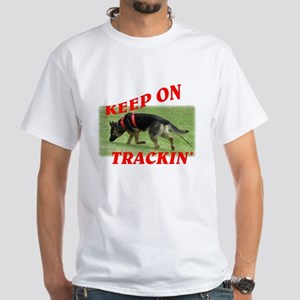 GSD tracking dog White T-Shirt