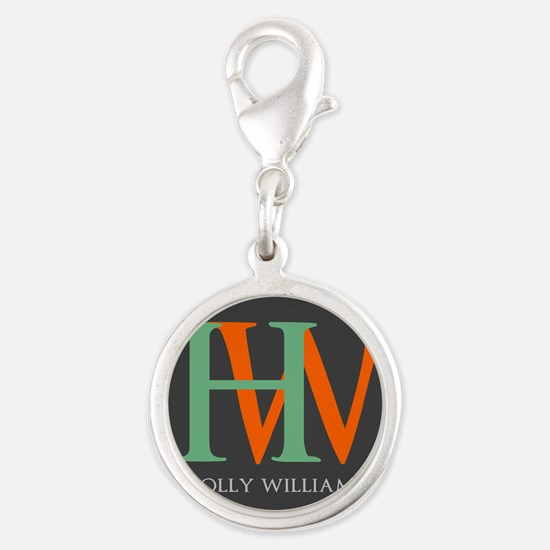 Large Monogram Personalized Silver Round Charm