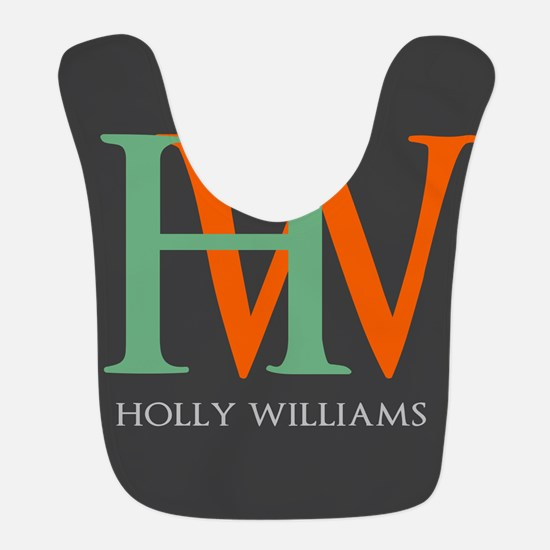 Large Monogram Personalized Bib