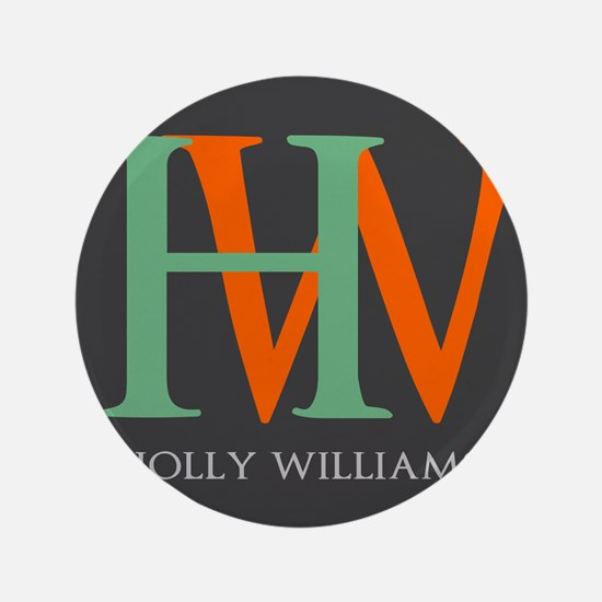 """Large Monogram Personalized 3.5"""" Button (100 pack)"""