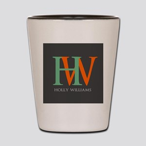 Large Monogram Personalized Shot Glass