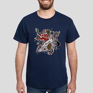 MacBean Tartan Lion Dark T-Shirt