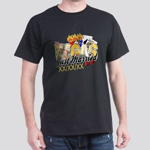 Vegas Just Married Dark T-Shirt