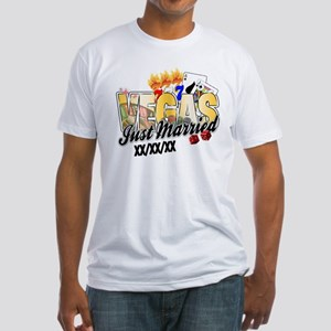 Vegas Just Married Fitted T-Shirt