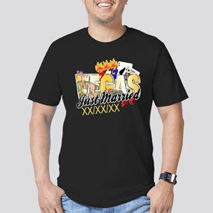 Vegas Just Married Men's Fitted T-Shirt (dark)