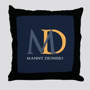 Elegant Custom Monogram Throw Pillow