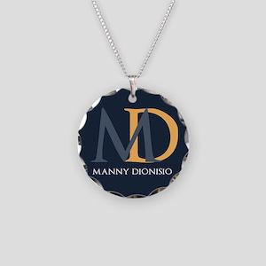 Elegant Custom Monogram Necklace Circle Charm