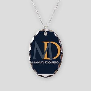 Elegant Custom Monogram Necklace Oval Charm