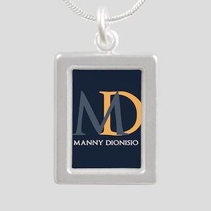 Elegant Custom Monogram Silver Portrait Necklace