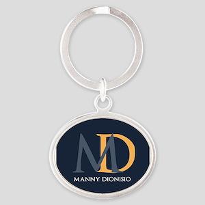 Elegant Custom Monogram Oval Keychain