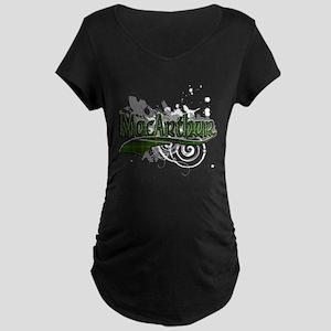 MacArthur Tartan Grunge Maternity Dark T-Shirt