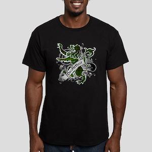 MacArthur Tartan Lion Men's Fitted T-Shirt (dark)