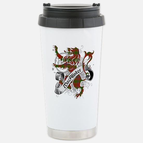 MacAlister Tartan Lion Stainless Steel Travel Mug
