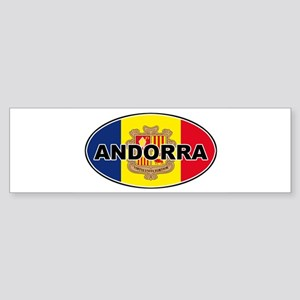 andorra2-flag-oval Bumper Sticker