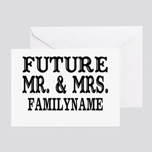 Future Mr. and Mrs. Personalized Greeting Card