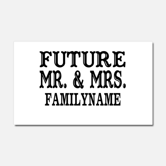 Future Mr. and Mrs. Personalize Car Magnet 20 x 12
