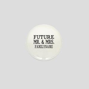 Future Mr. and Mrs. Personalized Mini Button