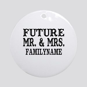 Future Mr. and Mrs. Personalized Ornament (Round)