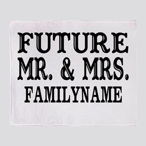 Future Mr. and Mrs. Personalized Throw Blanket