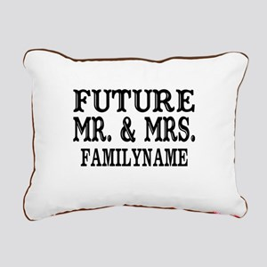 Future Mr. and Mrs. Pers Rectangular Canvas Pillow