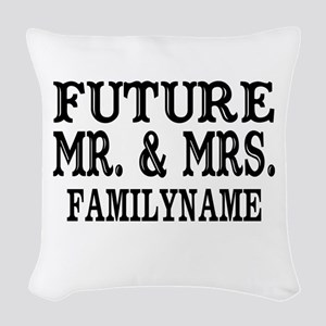 Future Mr. and Mrs. Personaliz Woven Throw Pillow