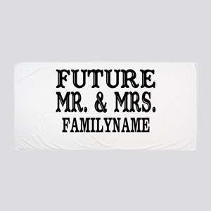 Future Mr. and Mrs. Personalized Beach Towel