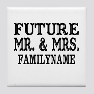 Future Mr. and Mrs. Personalized Tile Coaster