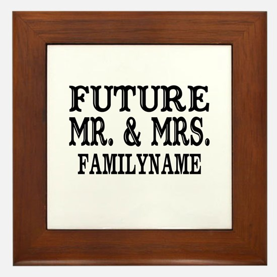 Future Mr. and Mrs. Personalized Framed Tile