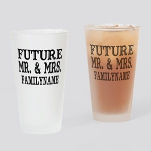 Future Mr. and Mrs. Personalized Drinking Glass