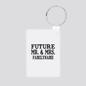Future Mr. and Mrs. Person Aluminum Photo Keychain