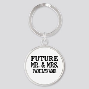 Future Mr. and Mrs. Personalized Round Keychain
