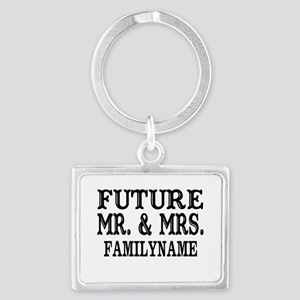 Future Mr. and Mrs. Personalize Landscape Keychain