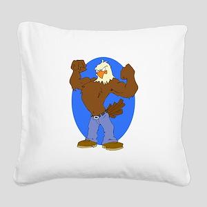 Bald Eagle Square Canvas Pillow