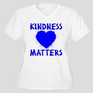 KINDNESS MATTERS Women's Plus Size V-Neck T-Shirt