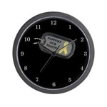 Military Support Dog Tags Wall Clock