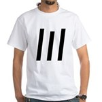 Inverted lIl White T-Shirt